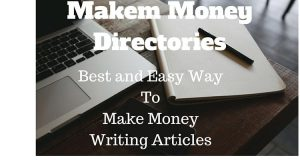 Making Money With Article Writing